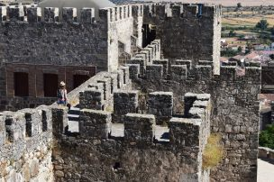Laura walking through the walls in Trujillo castle
