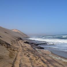 Where the sea meets the Namib desert