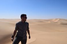 Dídac enjoying desert landscape